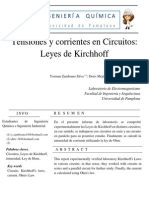 Tensiones y Corrientes en Circuitos - Leyes de Kirchhoff