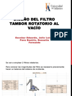 Diseño Del Filtro Tambor Rotatorio Al Vacío