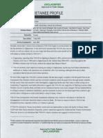Guantanamo Detainee profile