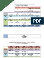 Jadwal Praktikum St i Dan II 2013