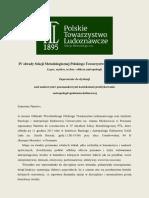 Zaproszenie Na IV Obrady Sekcji Metodologicznej PTL