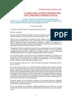 PROPOSICIÓN ACERCA DE LA LÍNEA GENERAL DEL MCI