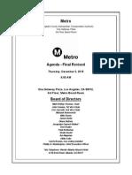 Metro Board agenda