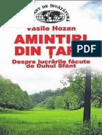 Vasile Hozan Amintiri Din Țară Vol 1