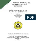 Analisis Protein Biomassa Sel Mengunakan Metode Bradford