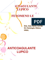 ANTICOAGULANTE LUPICO