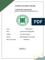 Informe Final Manuel Effio topografía 2