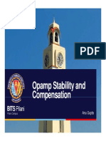 Opamp Stability Compensation Reduced