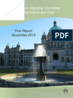 Opposition Standing Committee for Agriculture and Food - First Report