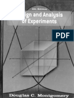 Design and Analysis of Experiments D.C.montgomery(2005) AaAoE (6th Ed)