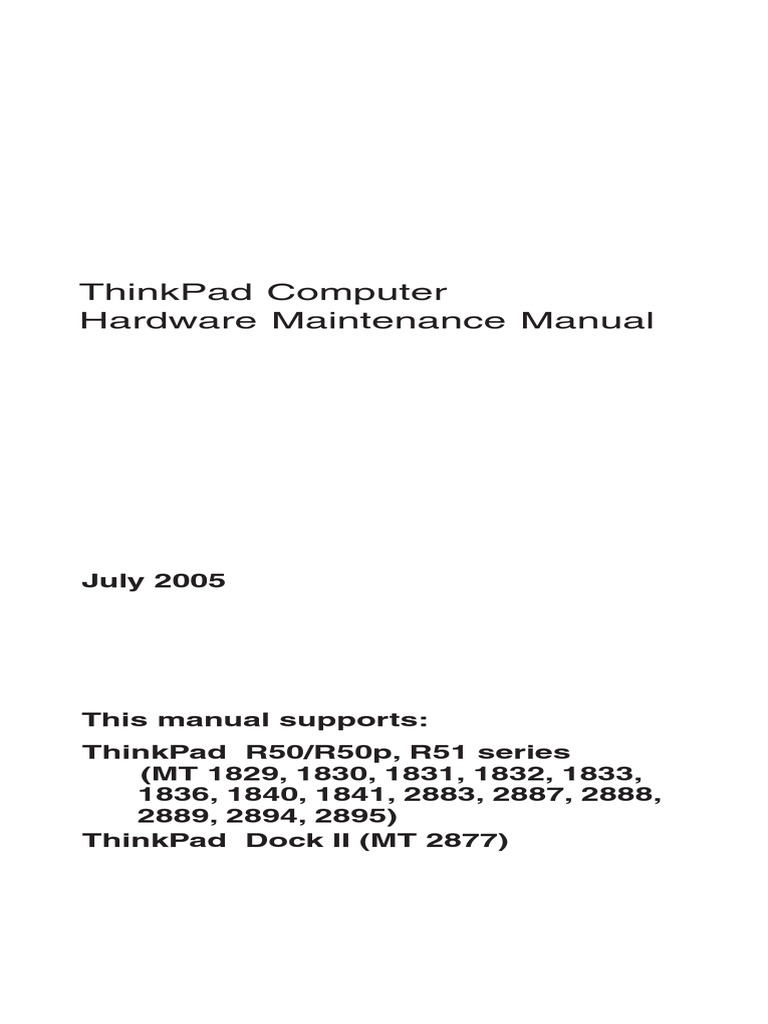 Thinkpad R50 R50p R51