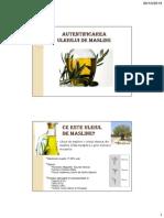 Autentificare ulei de masline