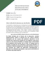 Diarios de Campo y Informe de Dialectica