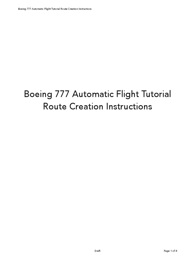 B777 by Ramzzess - T7 Tutorial Route Creation | Aerospace