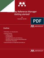 MendeleyMendeley Manual - Getting Started Manual - Getting Started