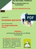 Economia Gerencial. Postgrado UNFV 2013
