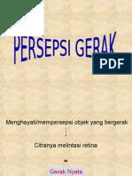 PERSEPSI GERAK