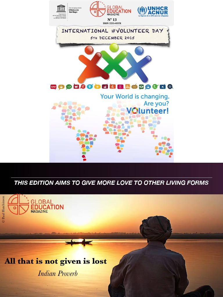 Global education magazine international volunteer day global education magazine international volunteer day volunteering homo fandeluxe Image collections