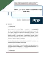 Memoria de Cálculo Estructural- Pervola
