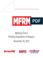 MFRM 2015 Sleepy s Acquisition Investor Deck VFinal