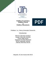 Trabajo de Investigación Politica económica, monetaria y fiscal.doc