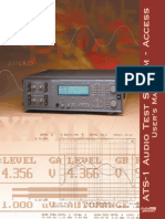 Audio Precision ATS-1 Manual
