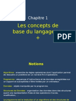 Chapitre 1 - Concepts de base du langage C++