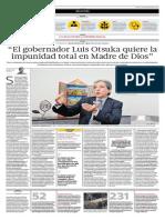 """""""El gobernador Luis Otsuka quiere la impunidad total en Madre de Dios"""""""