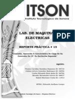 Reporte 13 - Maquinas