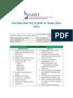 scheme of work 1