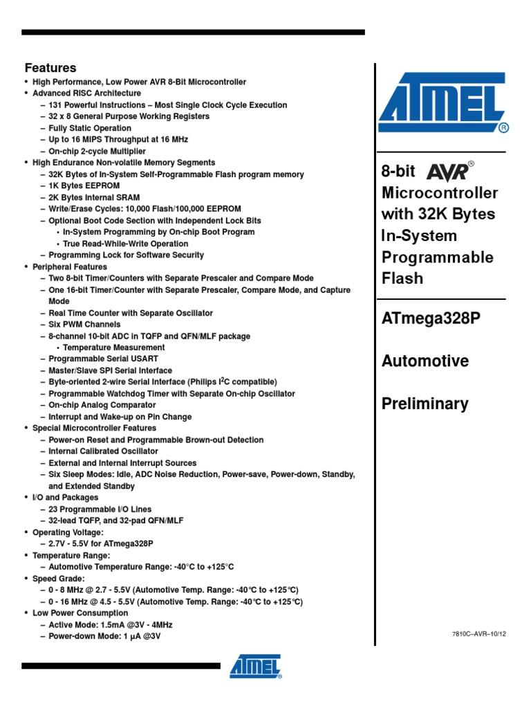 atmega328p   Instruction Set   Booting   Free 30-day Trial   Scribd