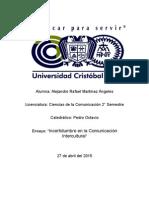 Incertidumbre en La Comunicacion Intercultural