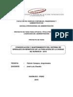TESIS CONSERVACIÓN Y MANTENIMIENTO DEL SISTEMA DE DRENAJES