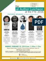 Random House FYE® Author Luncheon Invite 2016