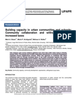Building capacity in urban communities and schools