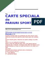 Carte Speciala scheme de pariuri sportive