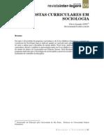 Propostas Curriculares Em Sociologia