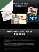analfabetismo en el ecuador