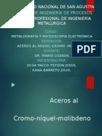 Aceros Al Nicol-cromo-molibeno. 1