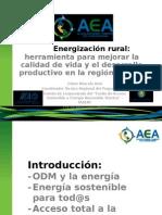 Evento de Lanzamiento Energizacion Rural Oliver Marcelo