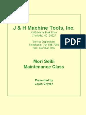 MORISEIKI MAINTENANCE CLASS | Numerical Control | Cable