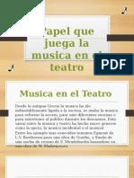 Papel Que juega la música en el teatro