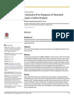 Interleukin-8 for Diagnosis of Neonatal