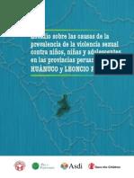 PyE Estudio Causas Violencia Sexual a NNA en Huánuco