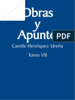 CHU.obras y Apuntes t.7.Literatura Hispanoamericana