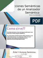 Acciones Semánticas de Un Analizador Semántico