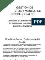 Gestión de Conflictos y Manejo de Crisis