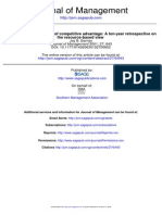 Resource-based Theories of Competitive Advantage - Copy