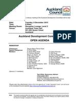 Auckland Development Committee. Agenda Dec 2015