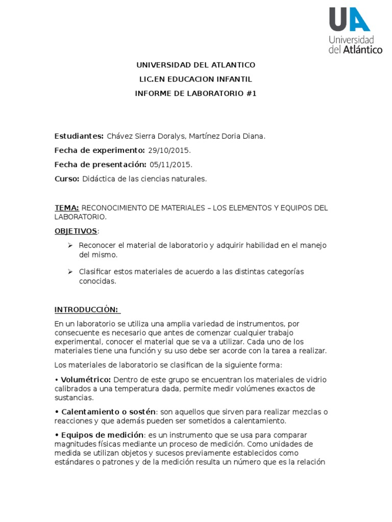 TRABAJO INFORME DE LABORATORIO